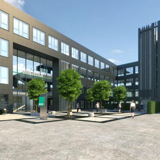 Bechtle Campus Visualisierung Innenhof
