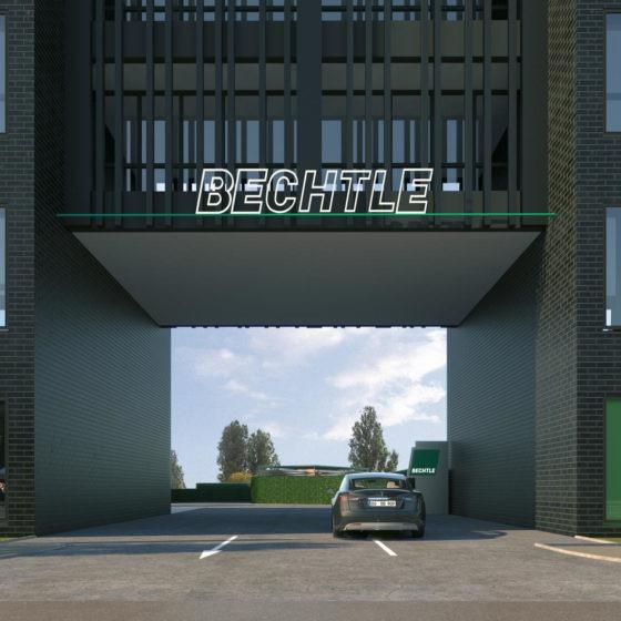 Bechtle Campus Visualisierung Einfahrt