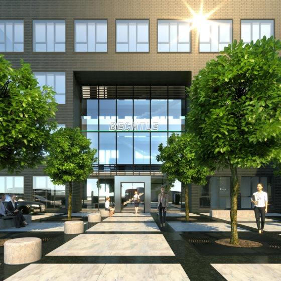 Bechtle Campus Visualisierung Haupteingang