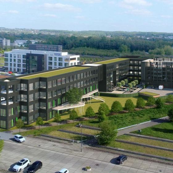 Bechtle Campus Visualisierung Luftaufnahme