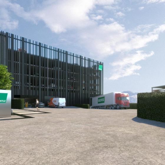 Bechtle Campus Visualisierung Parkhaus